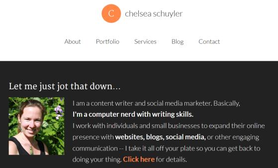 Chelsea Schuyler website