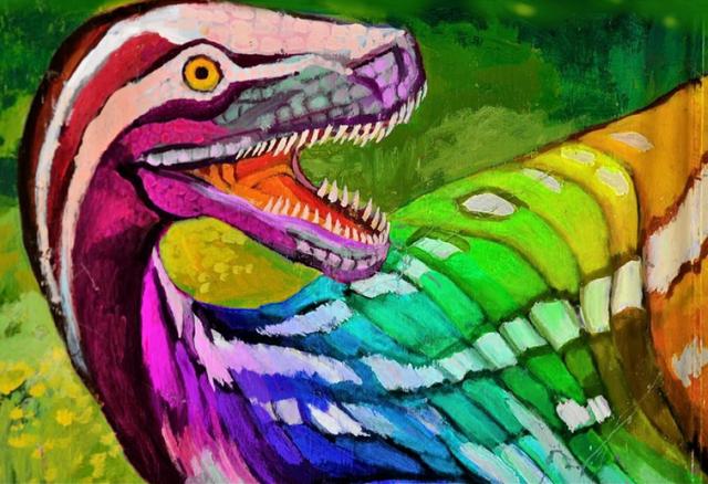 rainbow dinosaur