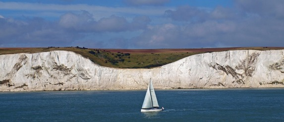 The White Cliffs of Dover in England. Because chalk!