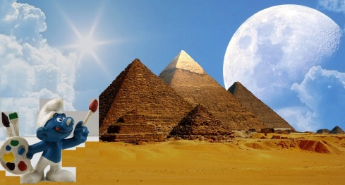 great pyramids and smurf | Chelsea Scrolls