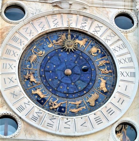 venice zodiac clock | Chelsea Scrolls